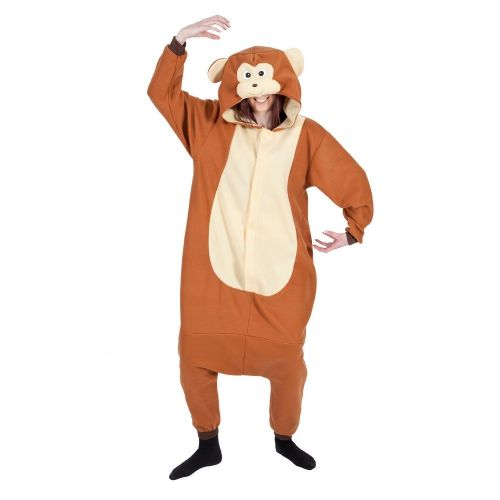 Adult Unisex Monkey Fleecy All in 1 Costume Outfit for Animals Fancy Dress Monkey